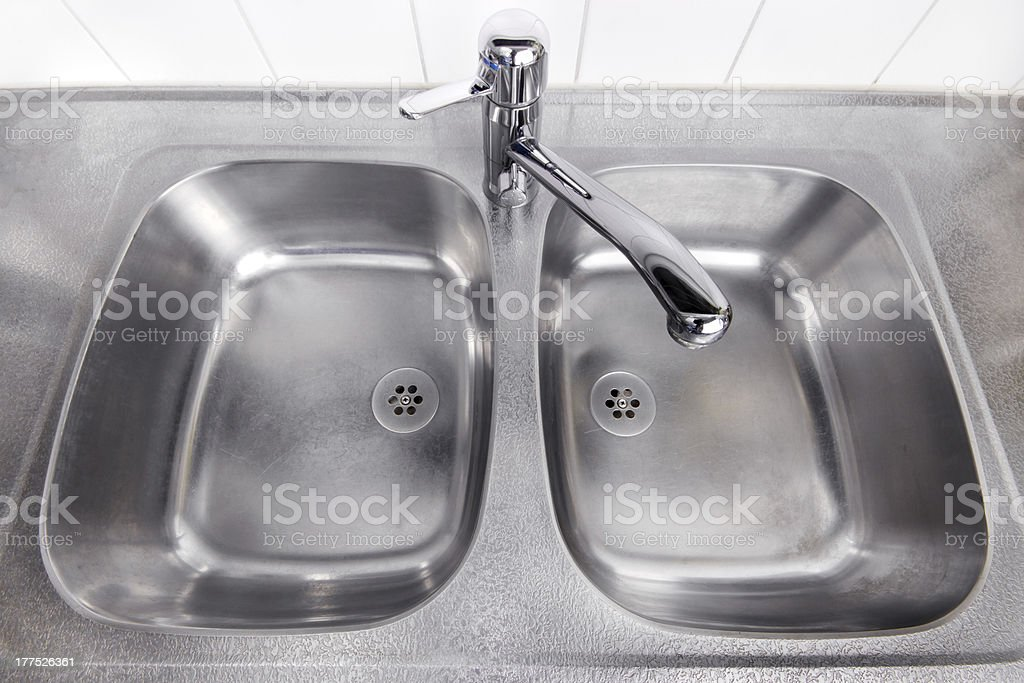 Steel washbasin royalty-free stock photo