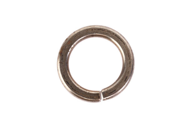 Steel washer on a white background Steel washer on a white background. washer fastener stock pictures, royalty-free photos & images