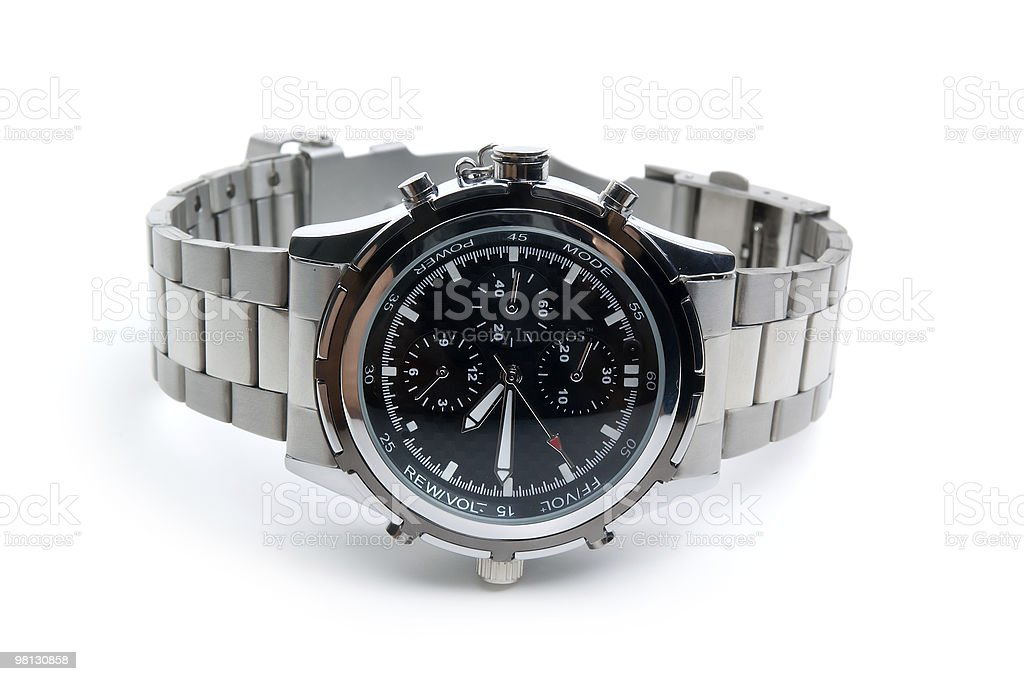 Steel watch royalty-free stock photo