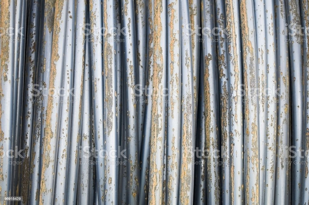 Steel Wire in part Rusty Condition royalty-free stock photo
