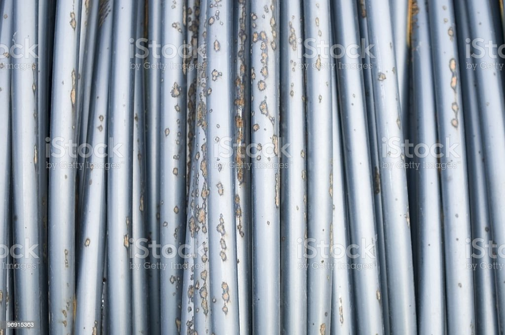 Steel Wire in Rust Spotted Condition royalty-free stock photo