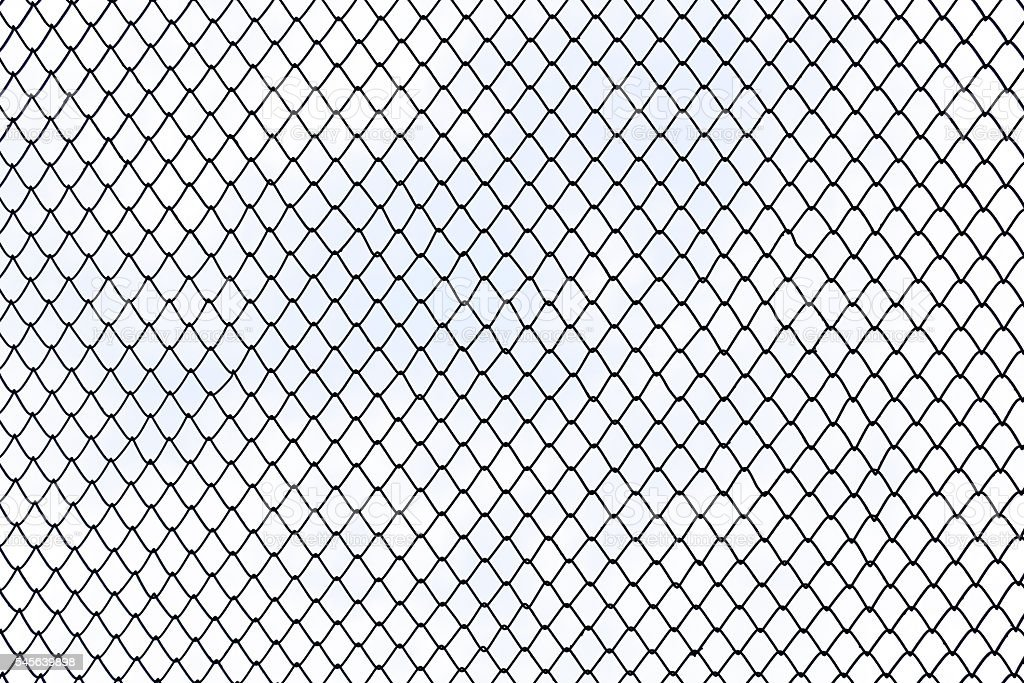 Steel Wire Mesh On White Background Isolated Stock Photo & More ...