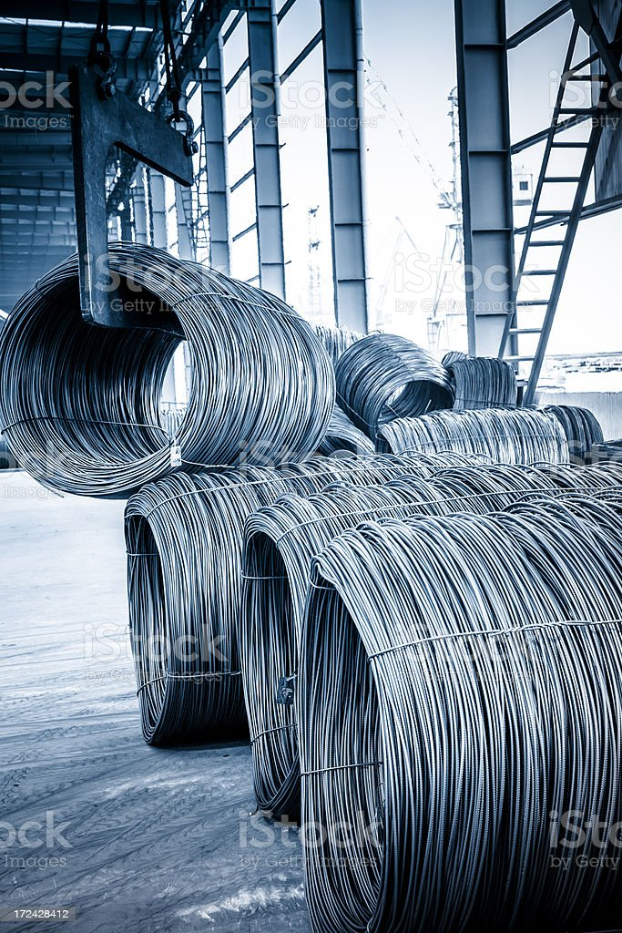 Steel Wire production line royalty-free stock photo