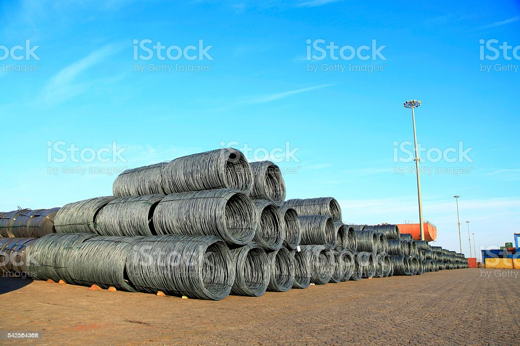 Steel wire rod stock photo