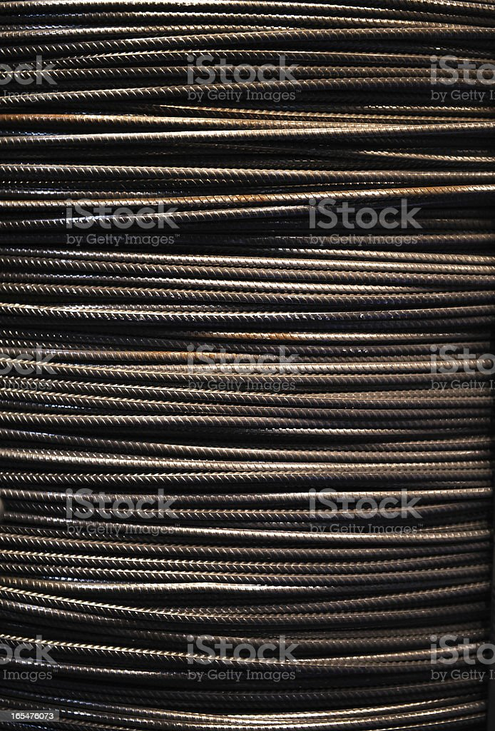 Steel wire rope background royalty-free stock photo