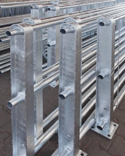 Stahl mit einer dünnen Zinkschicht Schutz vor Korrosion anode stock pictures, royalty-free photos & images