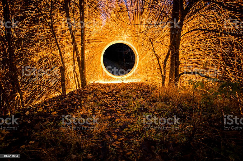 Steel wool stock photo