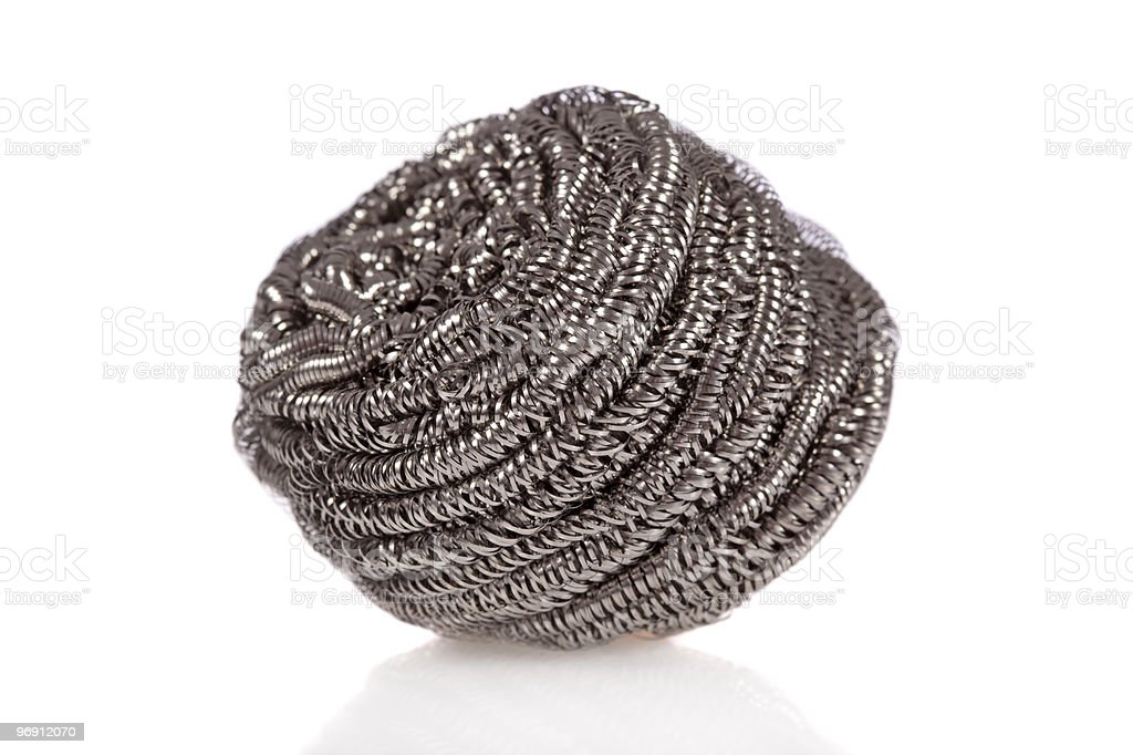 Steel Wool Soap pad isolated on white background royalty-free stock photo