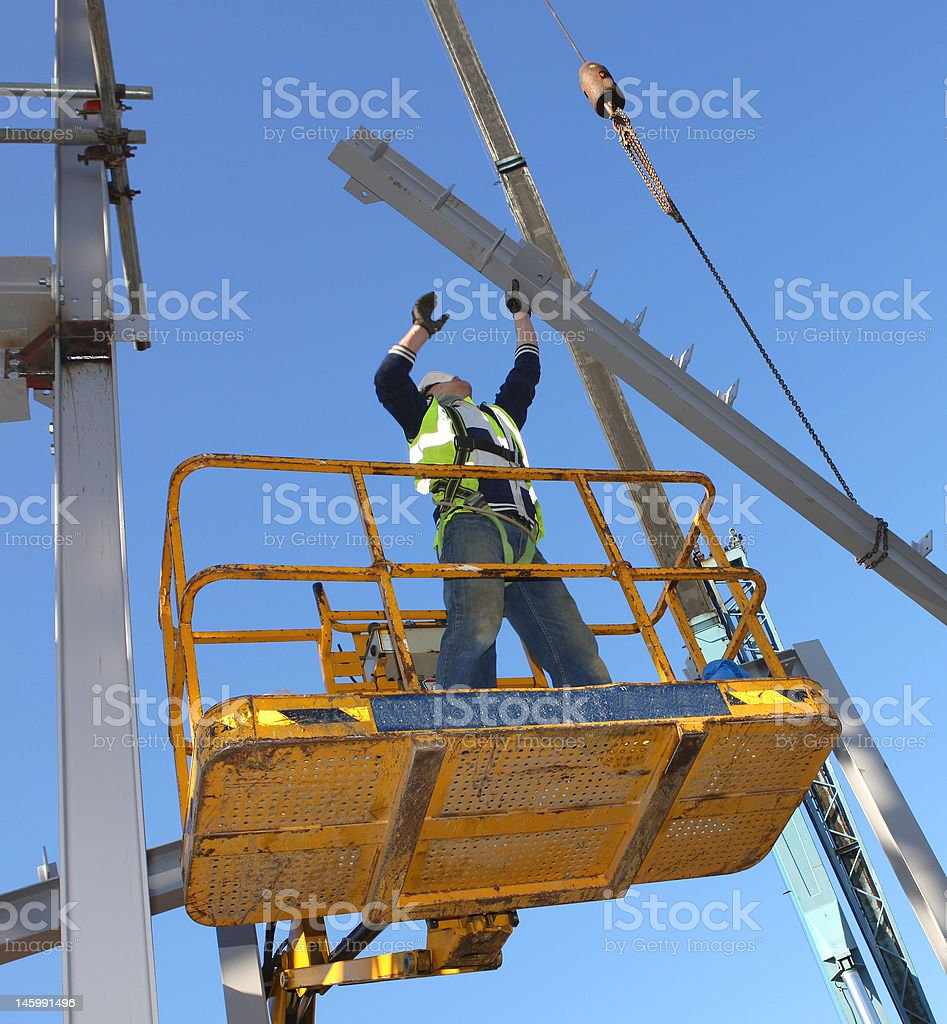 Steel Worker stock photo