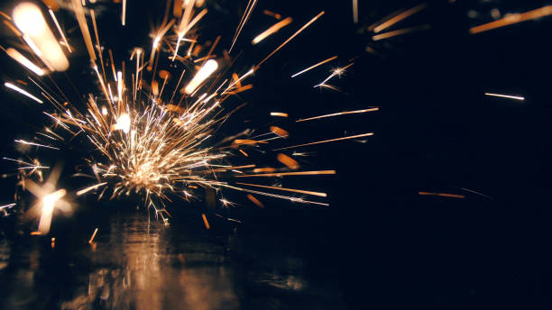 steel workshop - spark стоковые фото и изображения