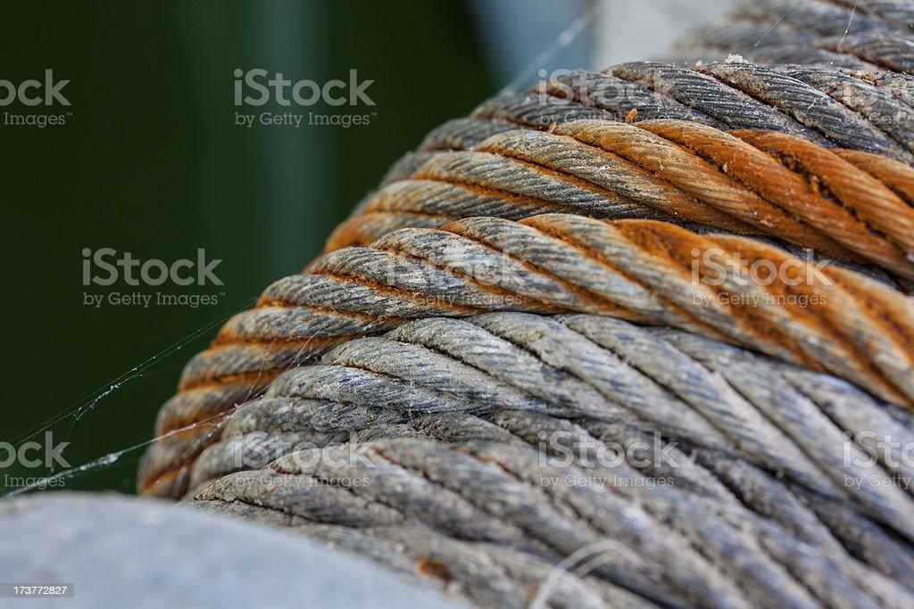 Steele Cable Macro stock photo