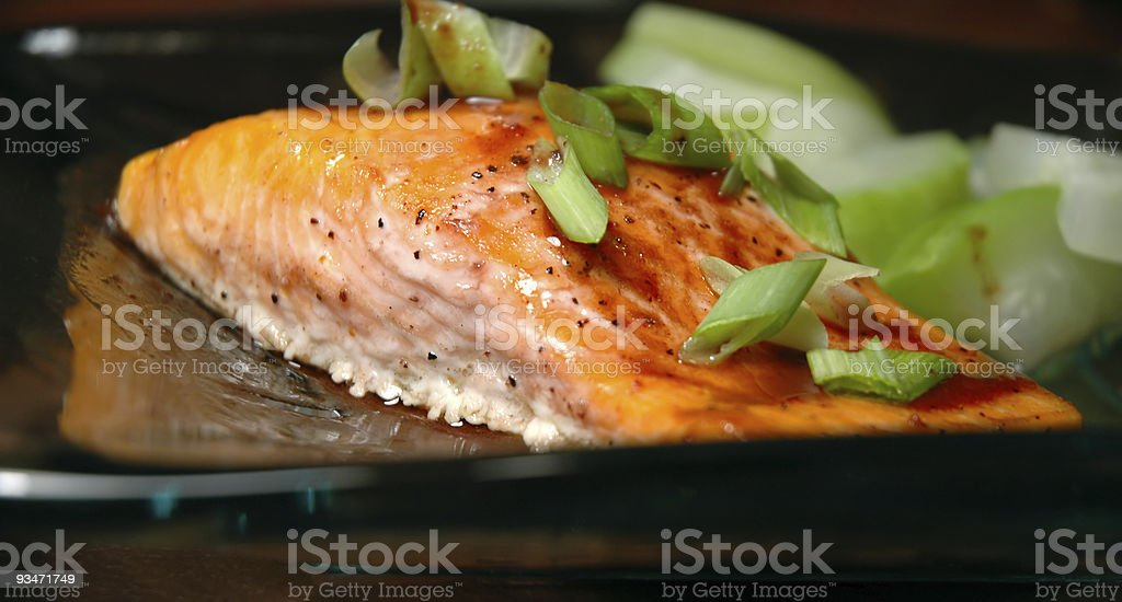 Steelhead Trout Dish stock photo
