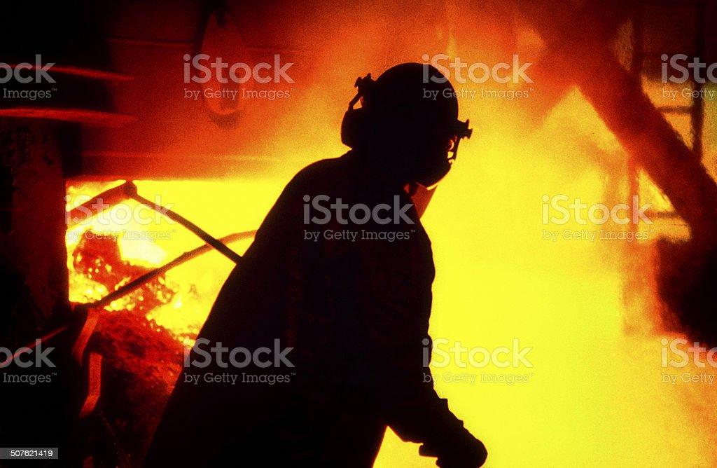 Steelmaker stock photo
