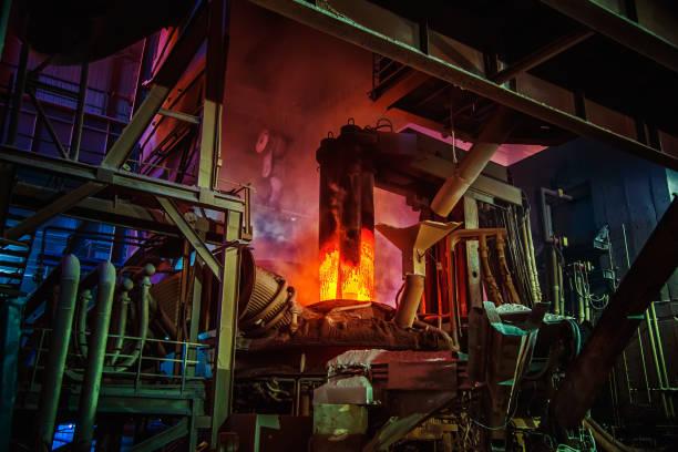 Steel-making workshop stock photo