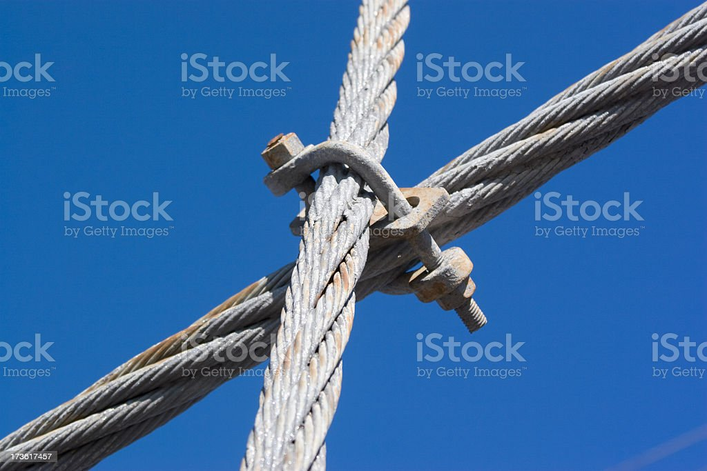 steel-wire rope stock photo