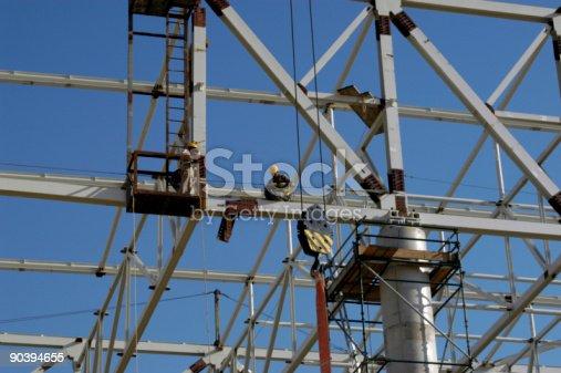 Skeletal Frame of Aicraft Hanger under Construction