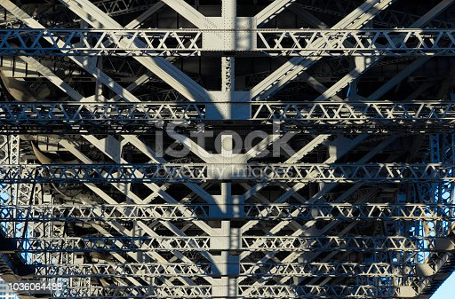 Looking up at the impressive steelwork that makes up the Sydney Harbour Bridge