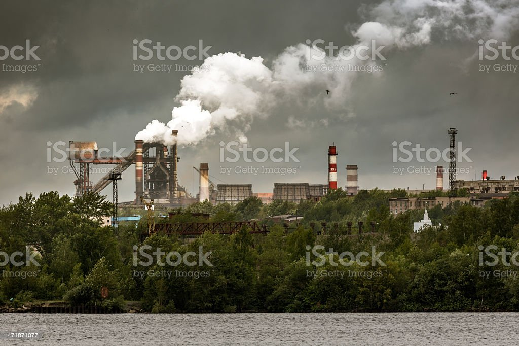Steelworks royalty-free stock photo