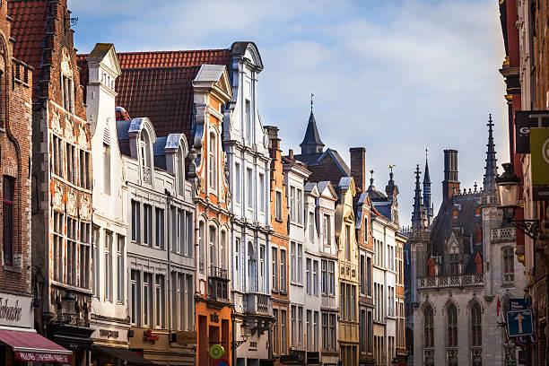 Steenstraat, Bruges, Belgium stock photo