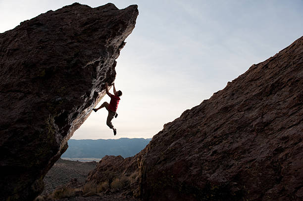 Steep Boulder stock photo