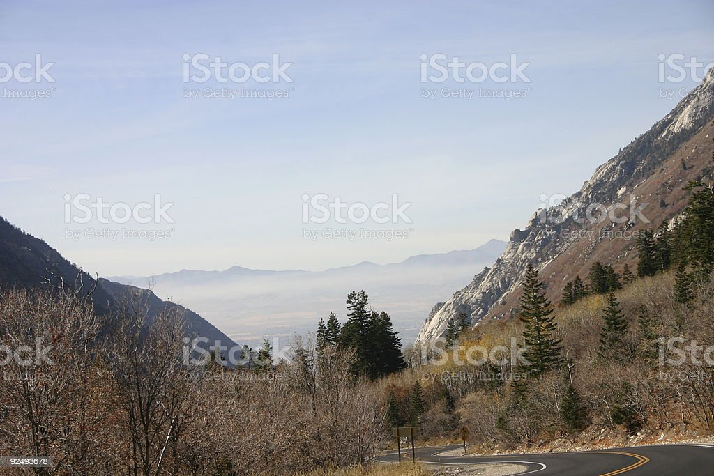 Steep Canyon Road royalty-free stock photo