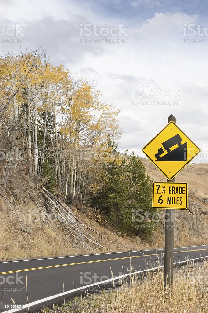 Steep Downhill royalty free stockfoto