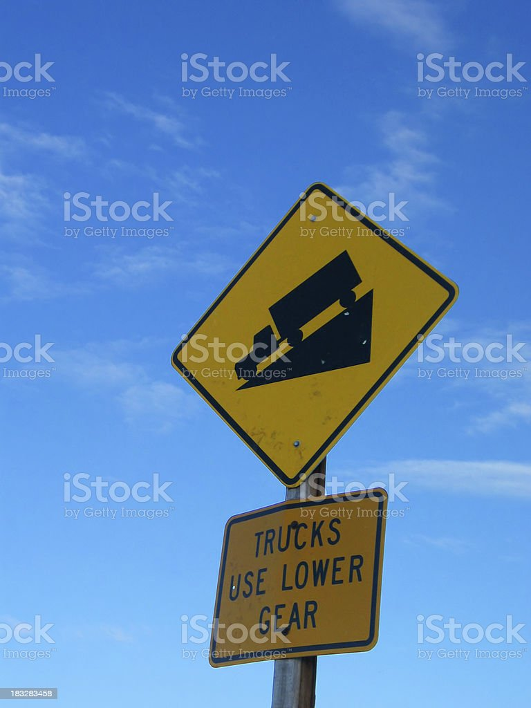 Steep Grade Sign stock photo