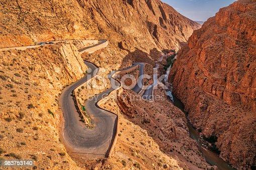 Steep mountain road - Dades Valley Morocco