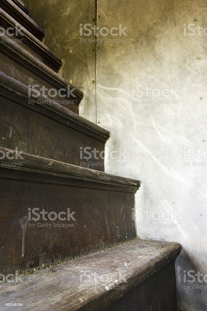 Steep old stairs royalty-free stock photo