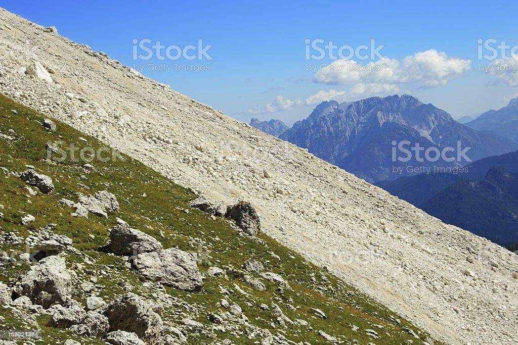 Steep slopes at high altitude royalty-free stock photo