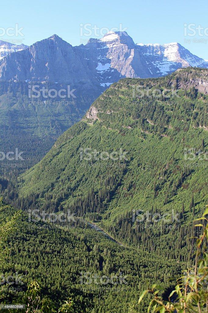 Steep Slopes - Glacier NP stock photo