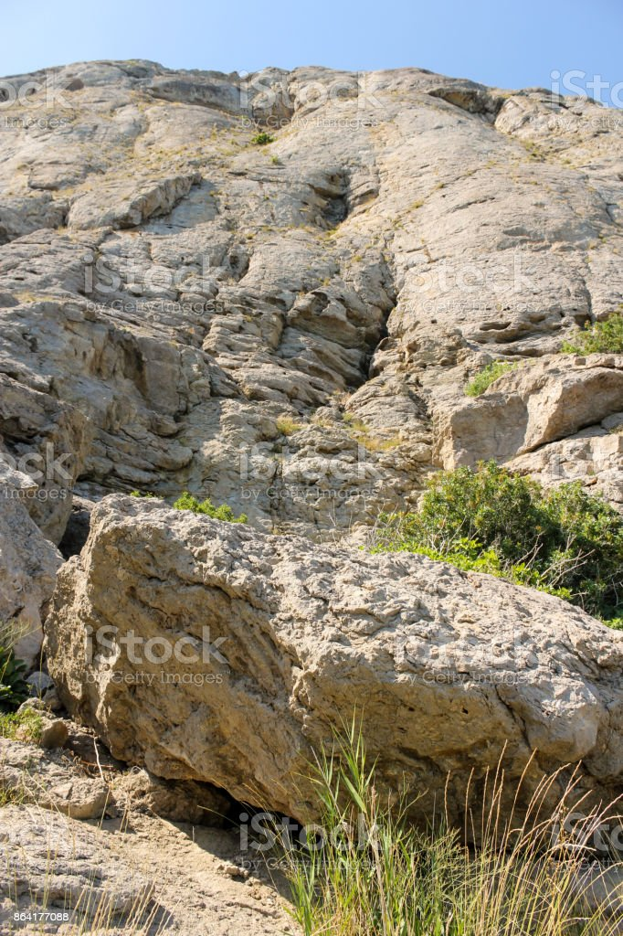 Steep stone mountain. royalty-free stock photo