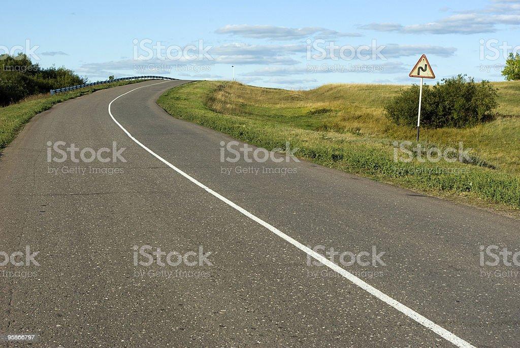 Steep turn ahead royalty-free stock photo