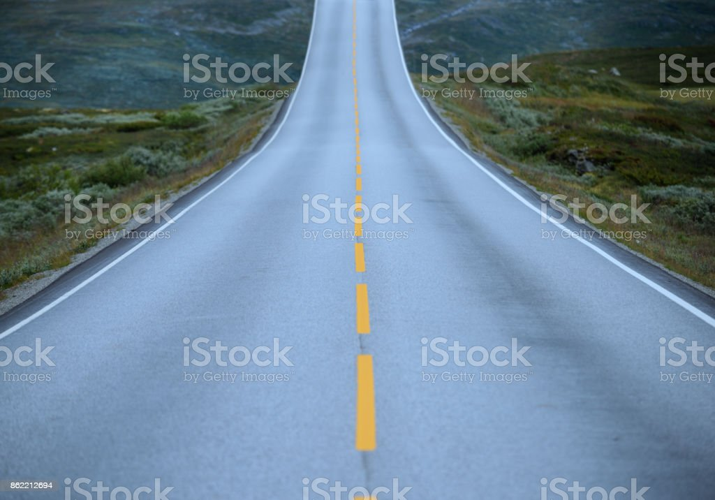 Steep uphill, metaphor for problem or obstacle stock photo
