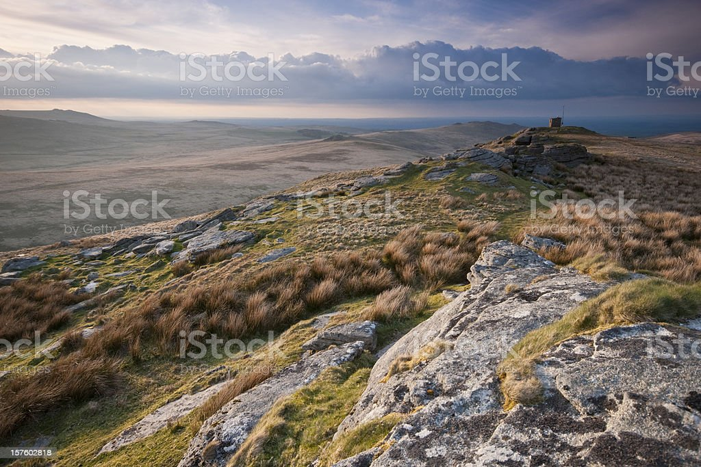 Steeperton Tor Dartmoor stock photo