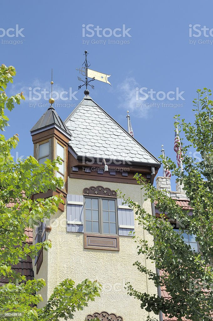 Steeple, Frankenmuth, Michigan royalty-free stock photo