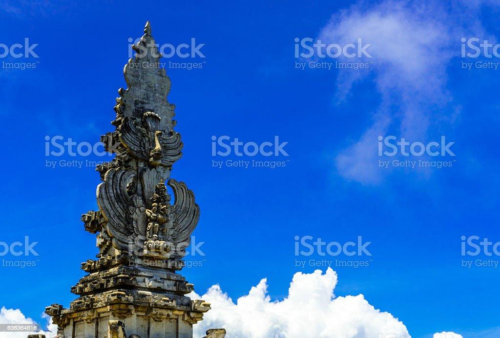 Steeple of a Lempuyang stock photo