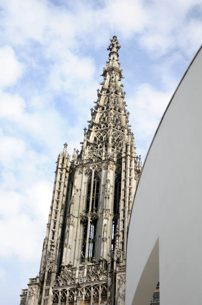steeple of Ulm Minster gothic steeple of Ulm Minster ulm minster stock pictures, royalty-free photos & images
