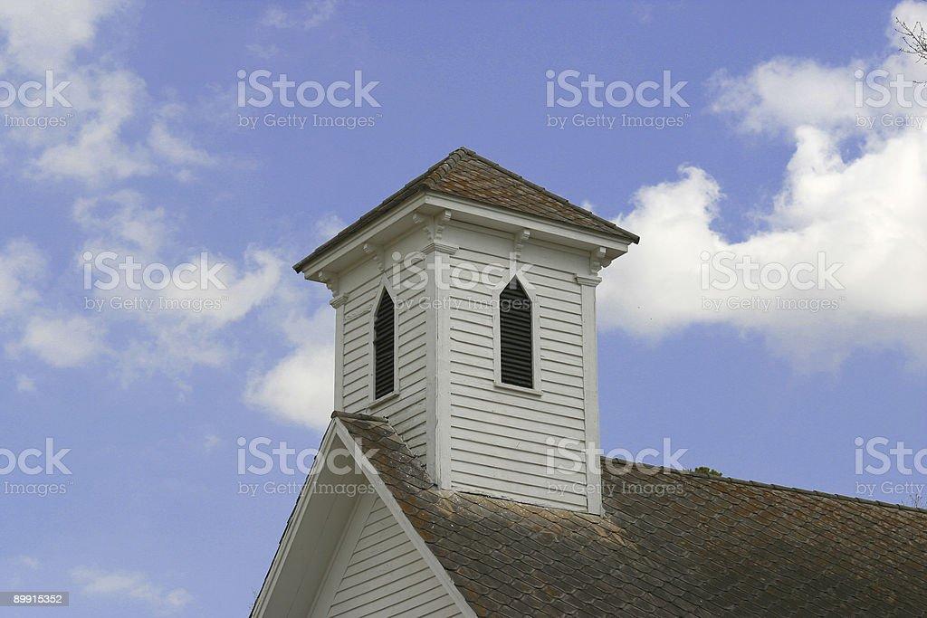 Clocher de l'église pays photo libre de droits