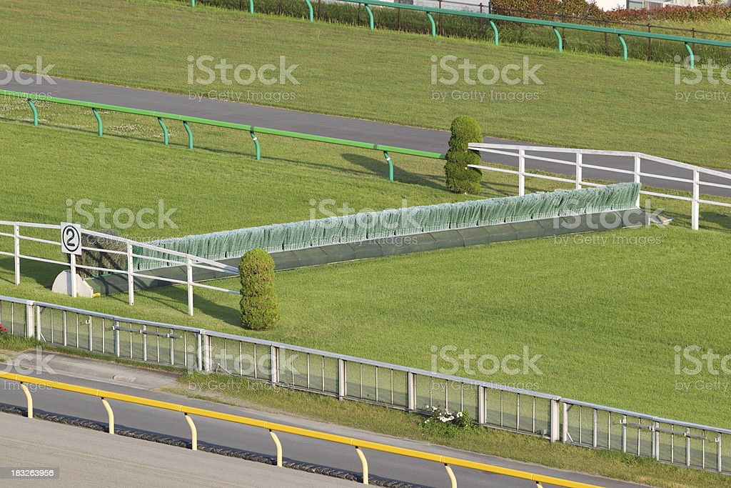 Steeplechase Course stock photo