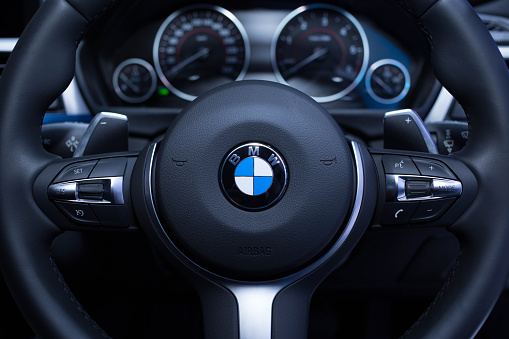 Steering Of Bmw Stock Photo - Download Image Now