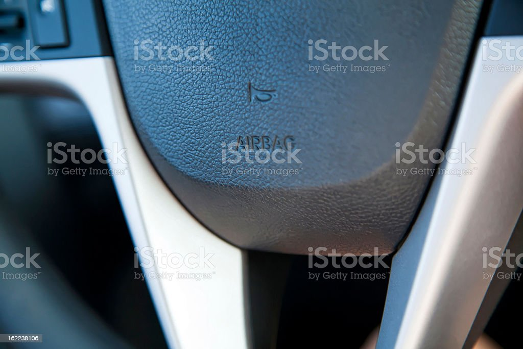 Steering Wheel - Airbag and Horn royalty-free stock photo