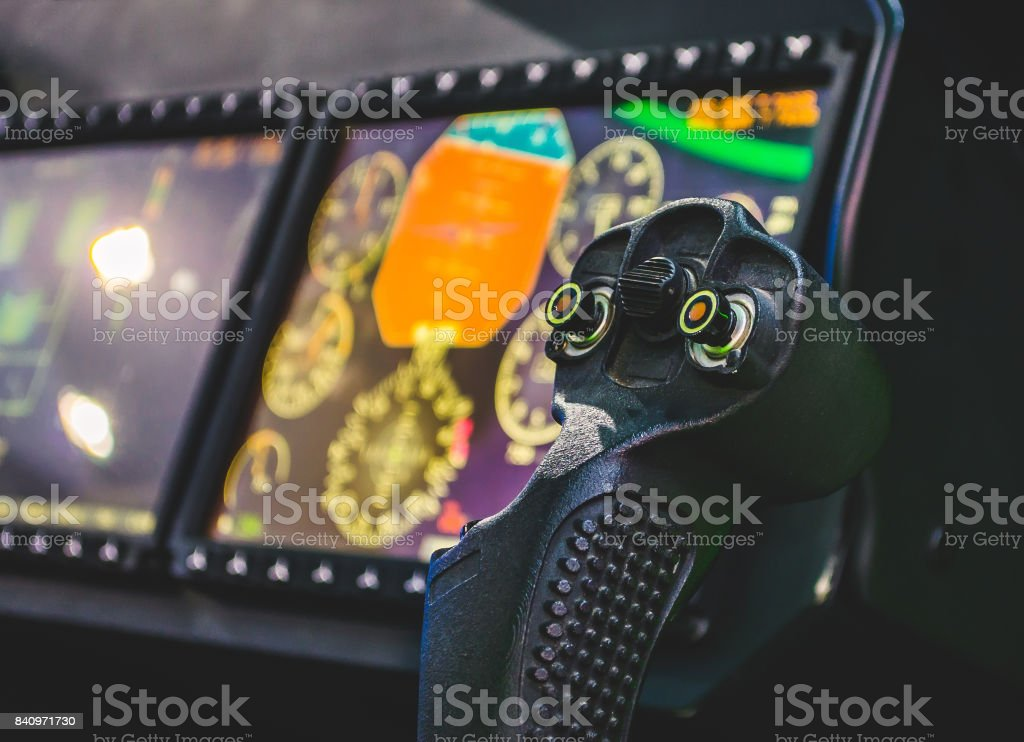Steering Wheel Aircraft Pilots Control Cabin Dashboards