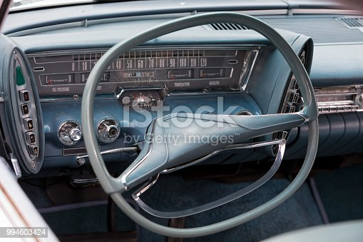 467735055istockphoto Steering Wheel & Dashboard of American Classic Car 994603424