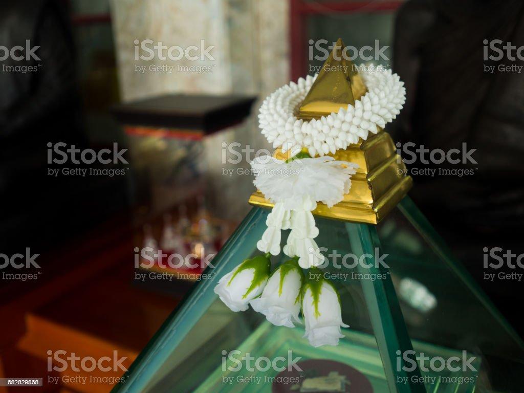 Steering wheel of jasmine flower to offer the monk or buddha stock steering wheel of jasmine flower to offer the monk or buddha royalty free stock photo izmirmasajfo
