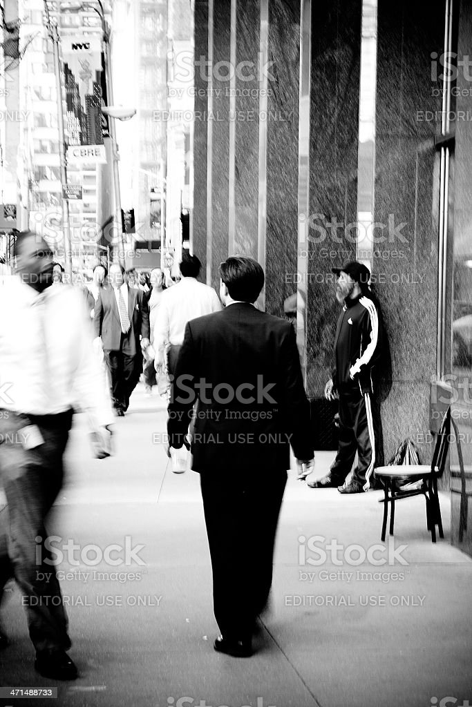 Steetlife on Broadway. New York royalty-free stock photo