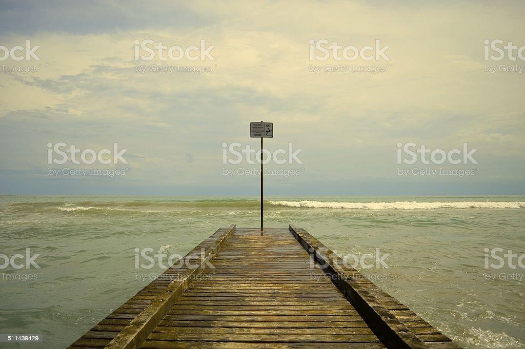 Steg am Wasser stock photo