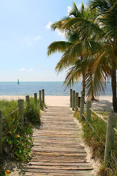 Steg zum Strand – Foto