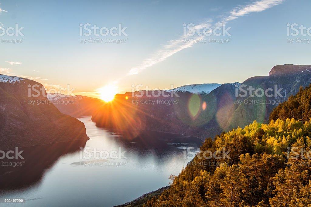 Stegastein Aurland Fjord Norway stock photo