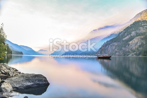Lake Chelan sunrise from Stehekin, Washington.